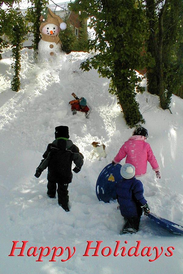 Kids Sledding by MARVIN BOWSER