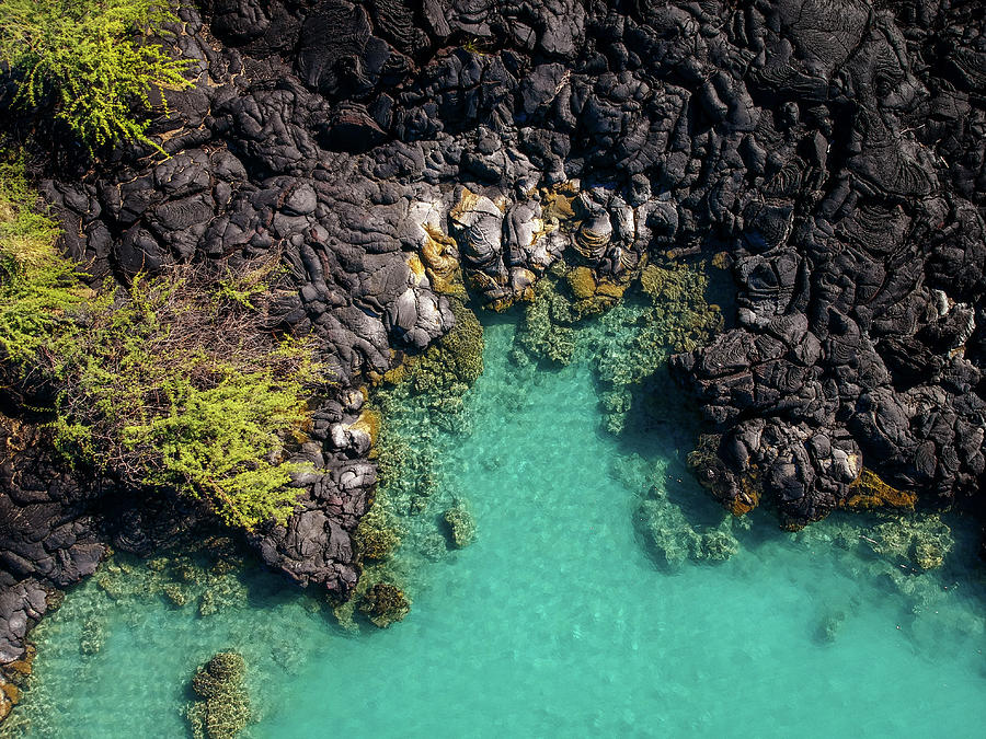 Kiholo Bay Coastline by Christopher Johnson
