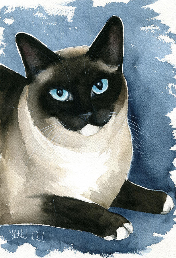 Kiki Snowshoe Siamese Cat by Dora Hathazi Mendes