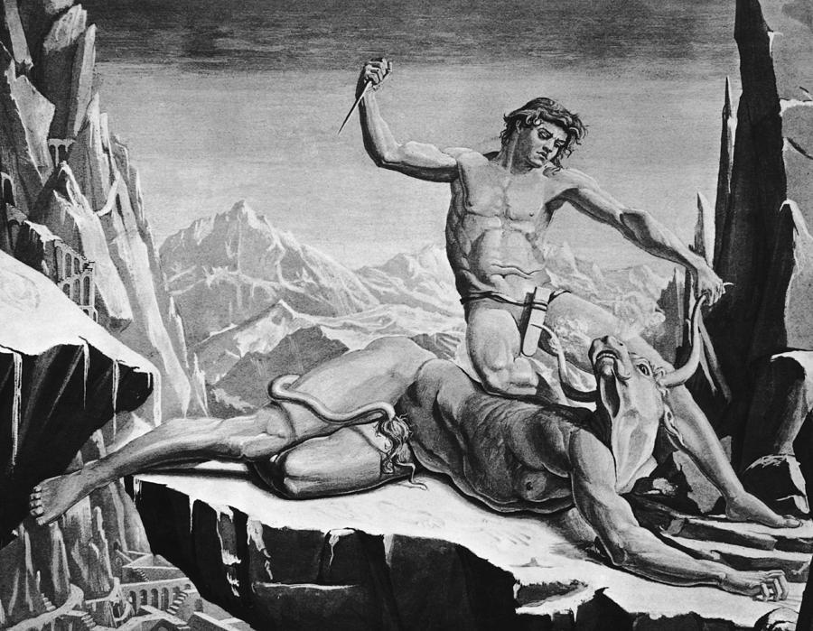 Killing The Minotaur Photograph by Hulton Archive