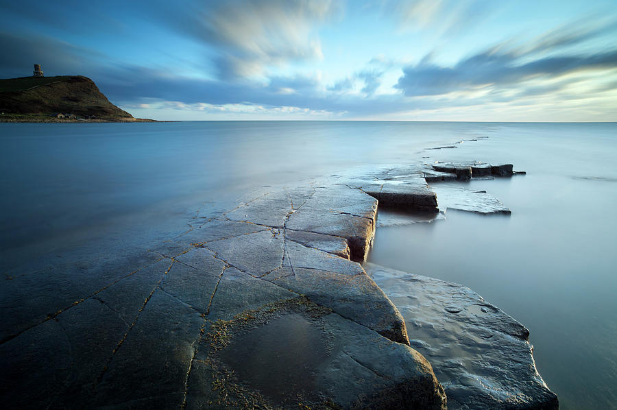 Kimmeridge Bay At Sunset, Dorset Photograph by Travelpix Ltd