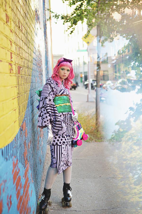 Dumbo Photograph - Kimono In Brooklyn by Angie Gonzalez