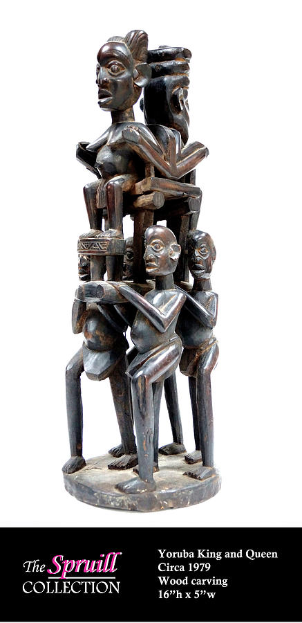 King and Queen Sculpture by Everett Spruill