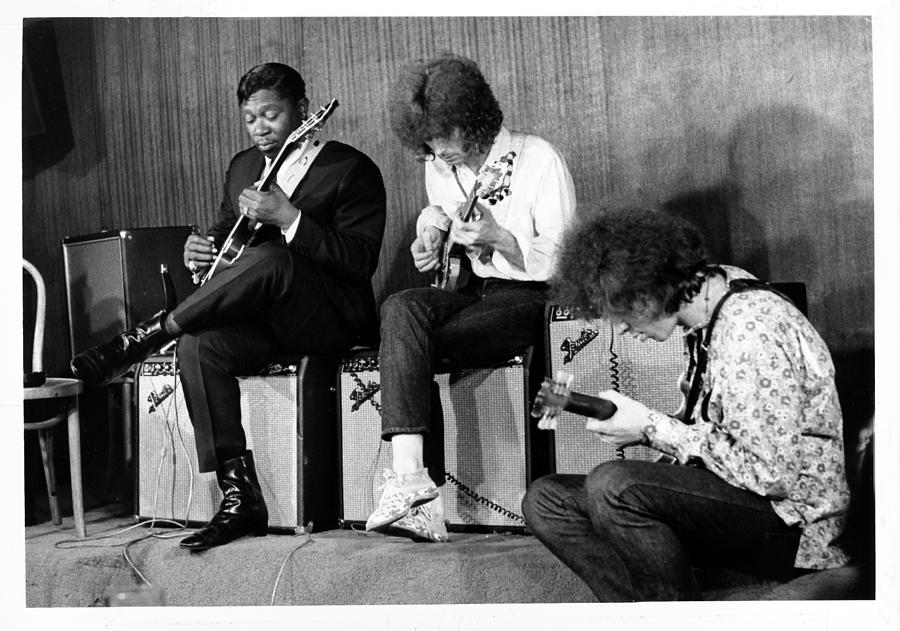 King, Clapton & Bishop Jam Photograph by Michael Ochs Archives