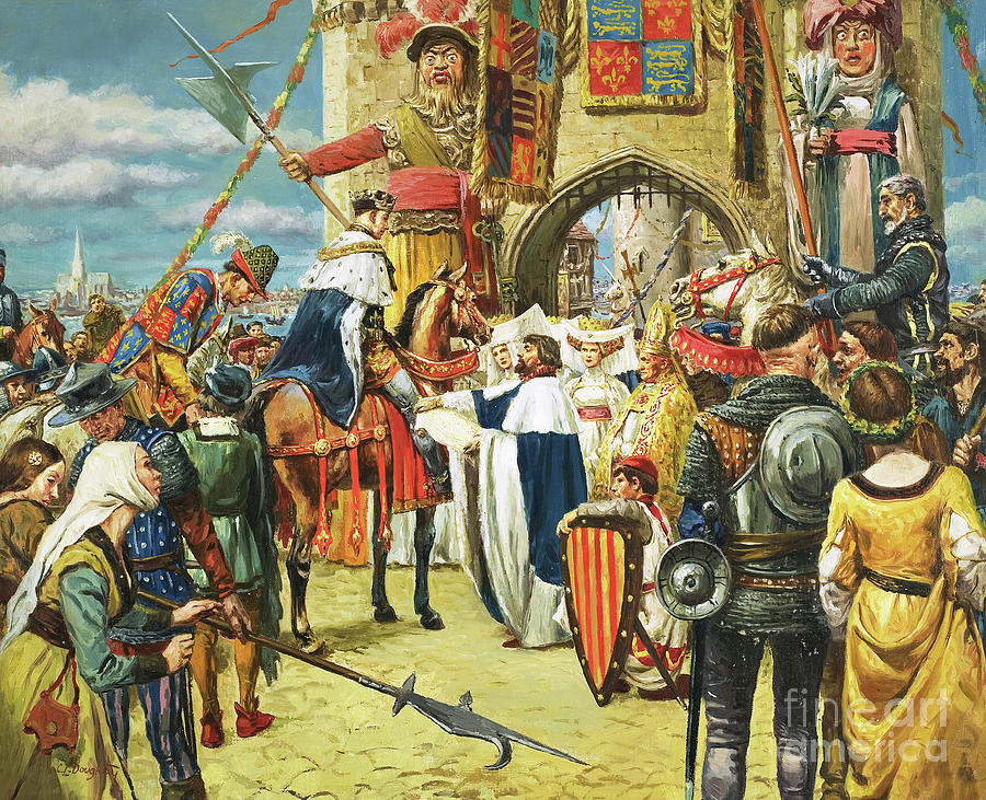 King Henry V?s Triumphal Return To London After His Victory At Agincourt by Cl Doughty