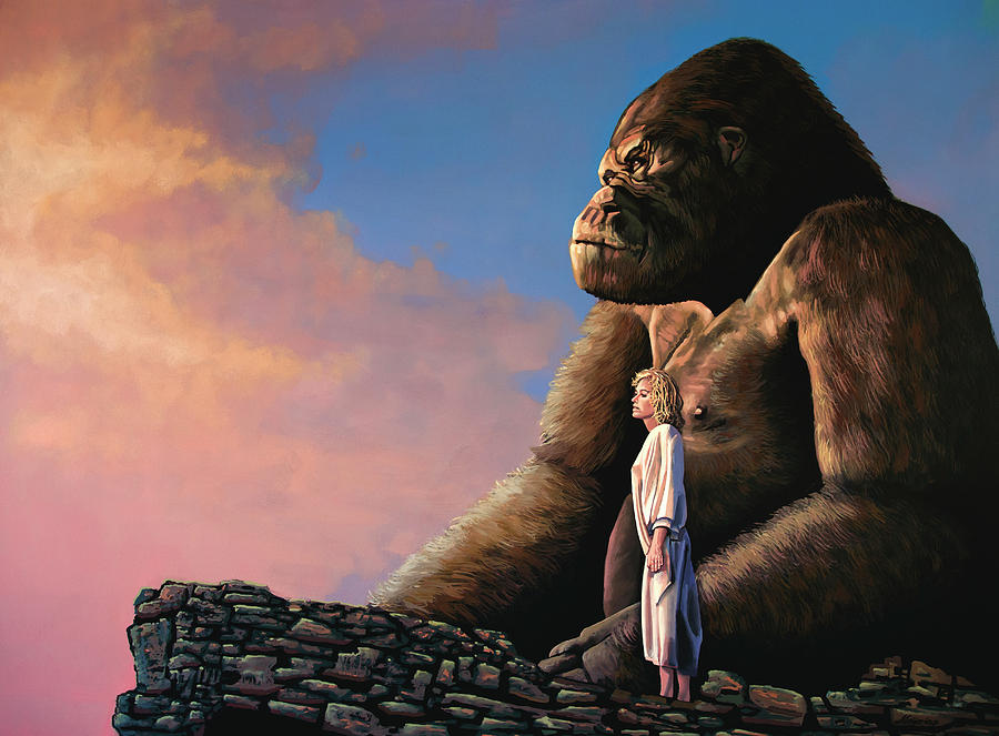 King Kong Painting by Paul Meijering