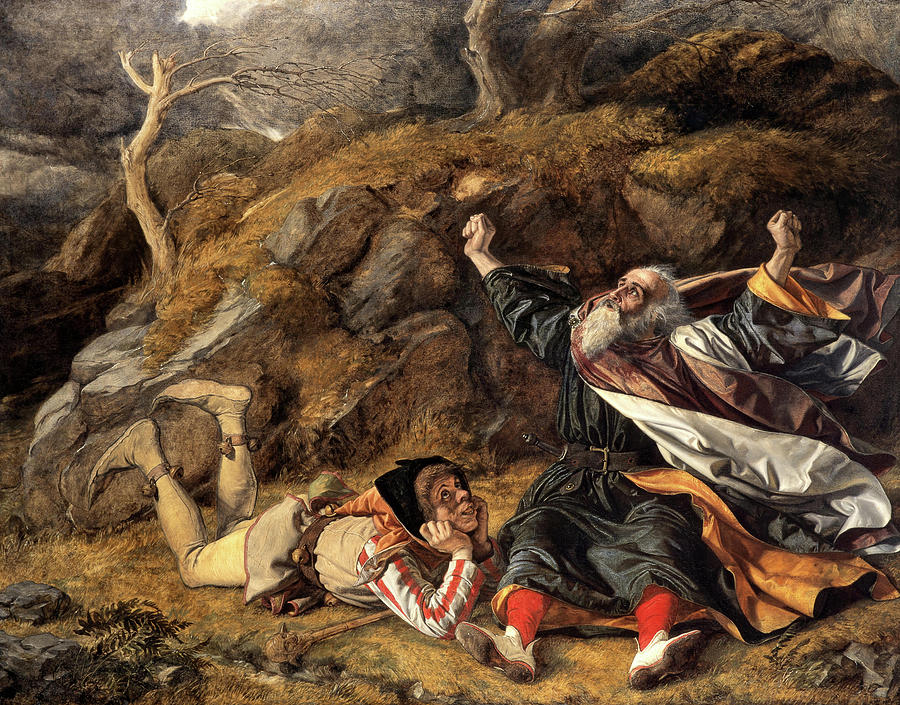 William Dyce Painting - King Lear And The Fool In The Storm by William Dyce