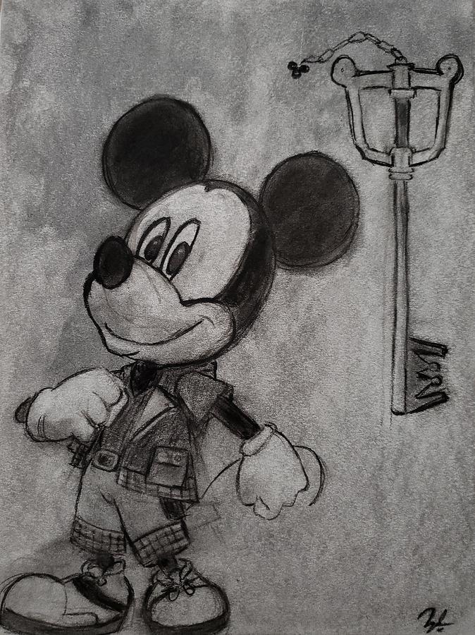 King Mickey Kingdom Hearts Drawing By Tyrone Scott