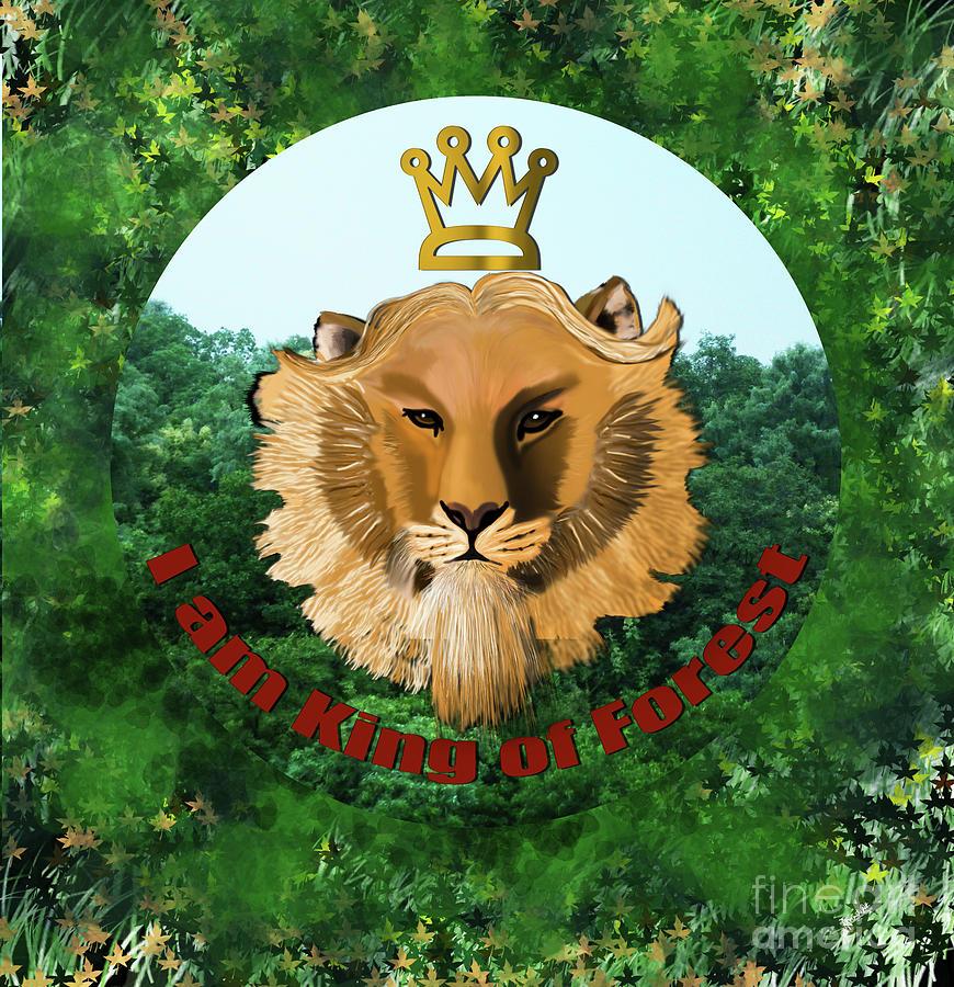 King Of The Jungle Digital Art