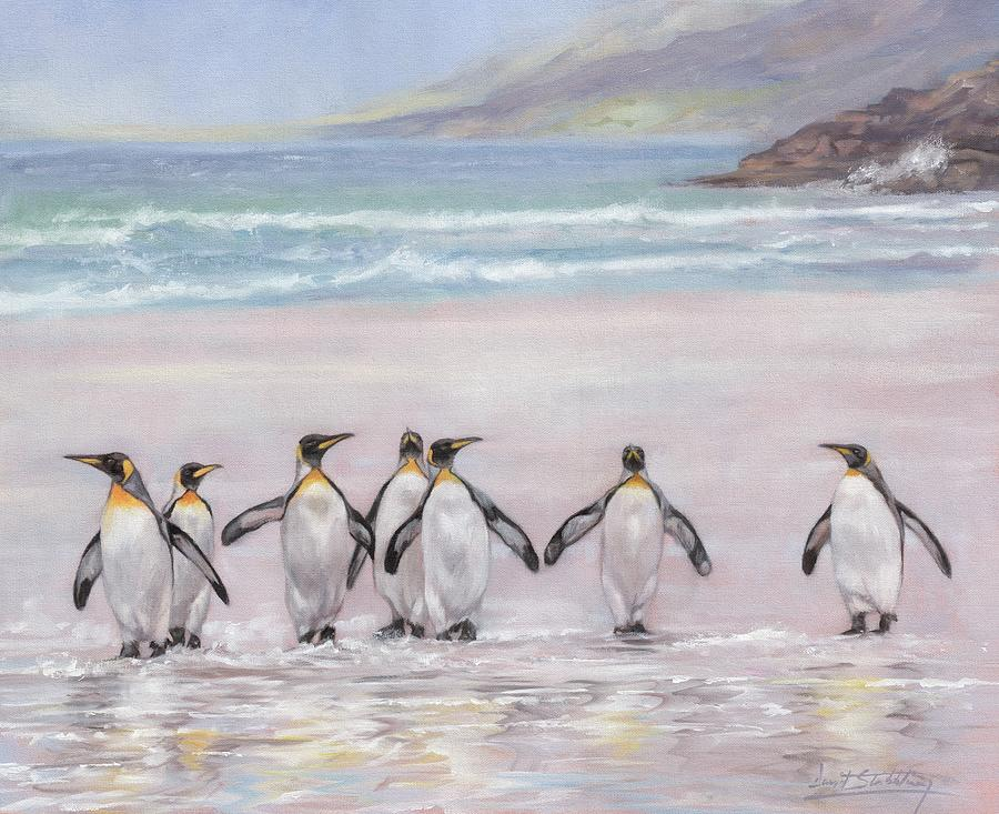King Penguins by David Stribbling