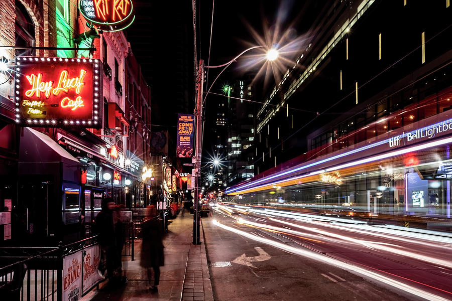 King St. Street car time exposure by Sven Brogren