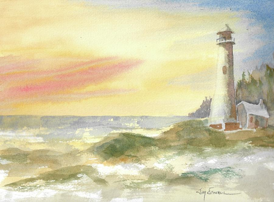 Watercolor Painting - Kingdom By The Sea by Jim Stovall