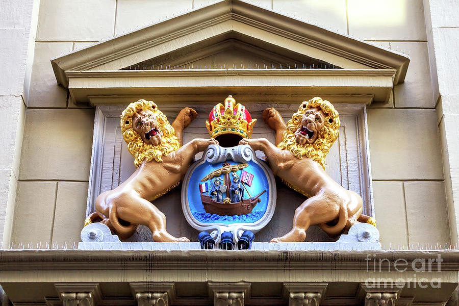 Kingdom of the Netherlands Coat of Arms in Amsterda by John Rizzuto