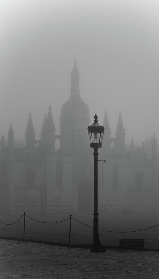 Kings College Cambridge In Fog Photograph by Pauline A Yates Photography