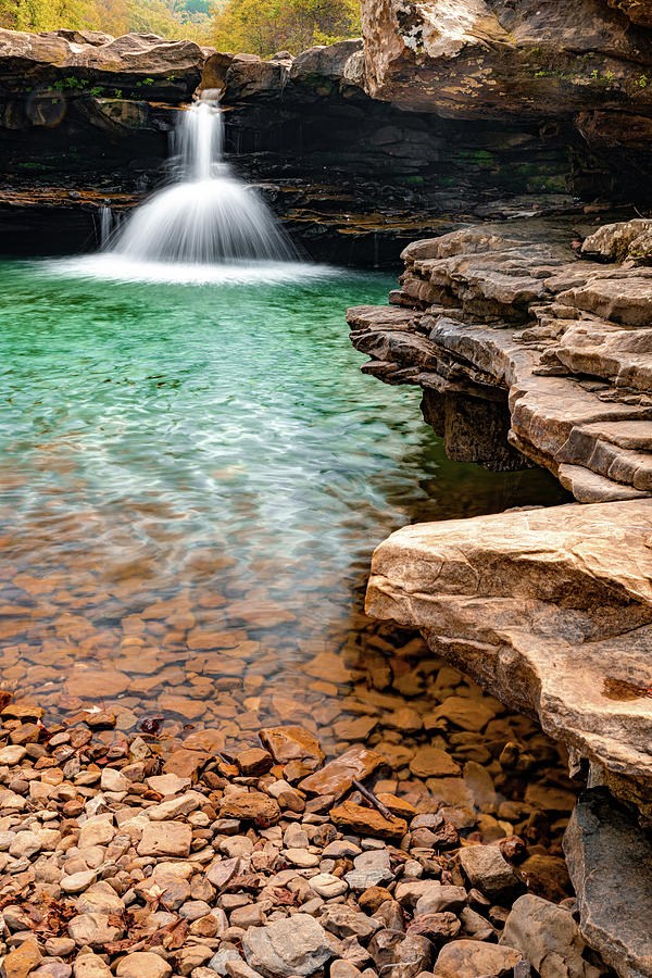 Kings River Falls Scenic Waterfall And Swimming Hole - Arkansas Photograph