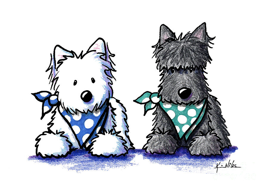 KiniArt Terrier Twosome by Kim Niles