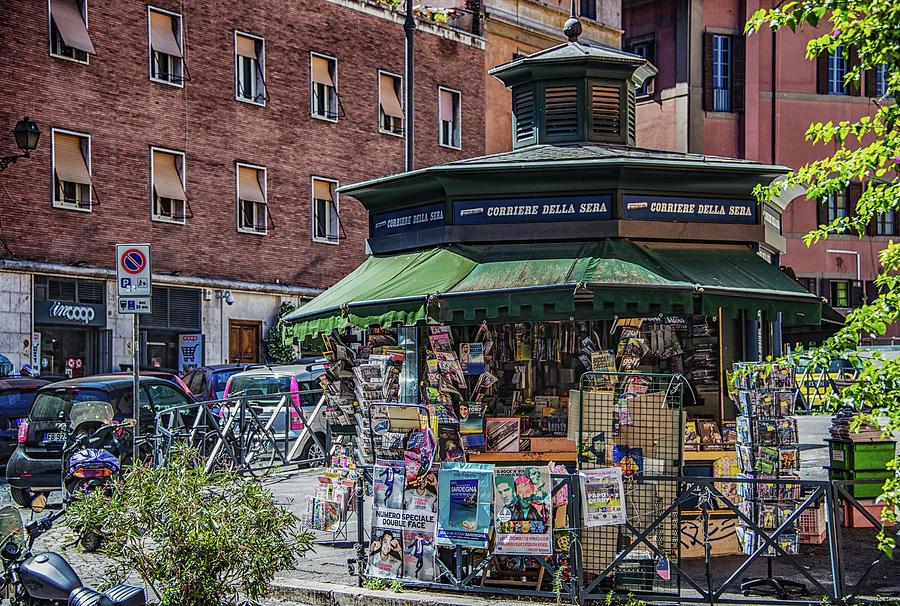 Italia Photograph - Kiosk by Joseph Yarbrough