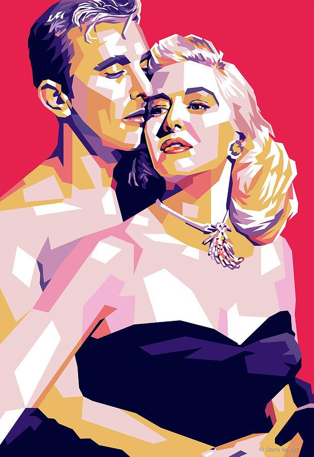 Kirk Douglas And Marilyn Maxwell Digital Art