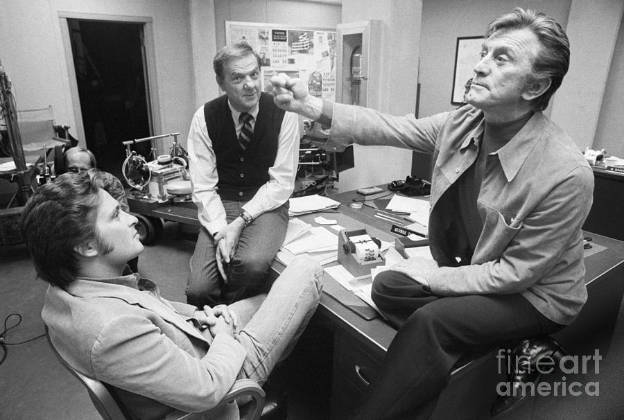 Kirk Douglas With Michael Douglas Photograph by Bettmann