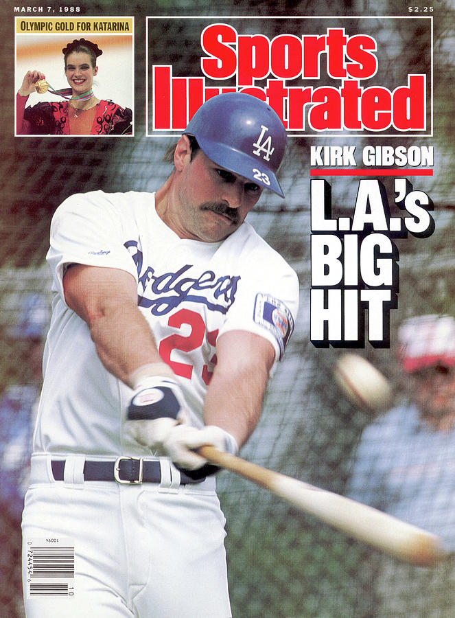 Kirk Gibson Las Big Hit Sports Illustrated Cover Photograph by Sports Illustrated