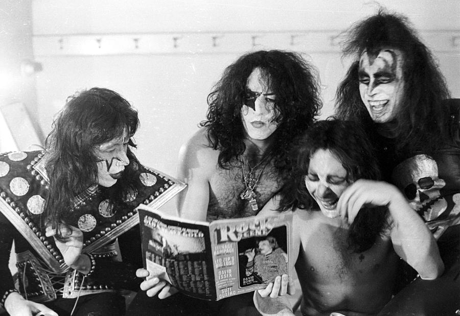 Rock Music Photograph - Kiss Backstage by Michael Ochs Archives