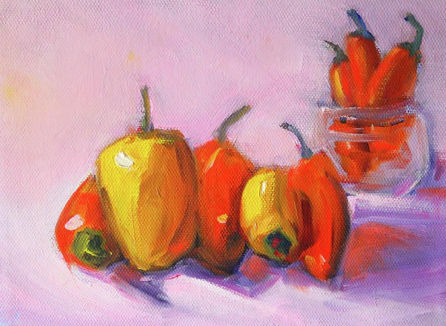Kitchen Peppers by Nancy Merkle