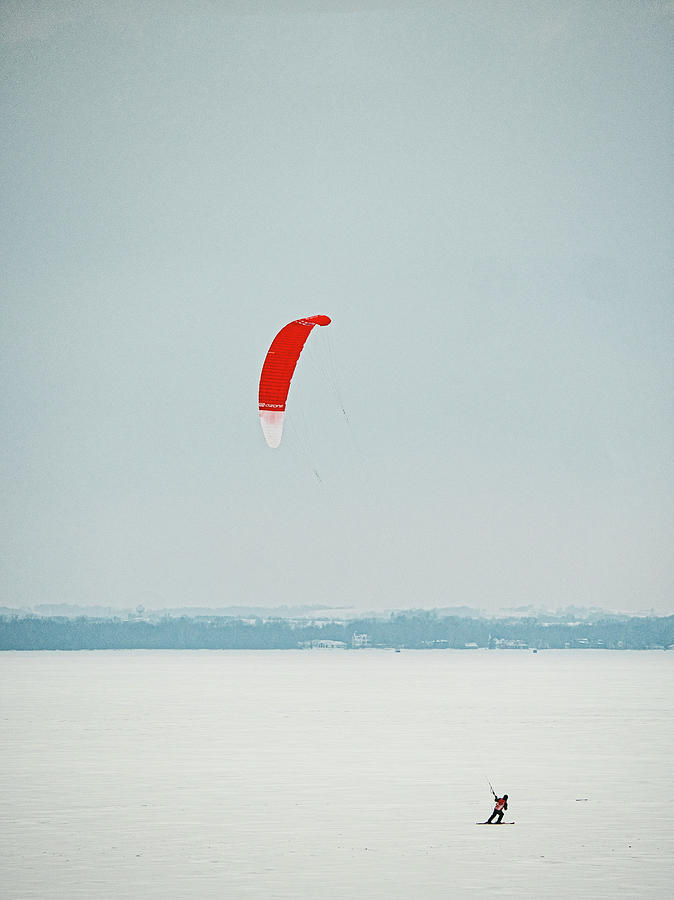 Kite Skiing 2 - Madison - Wiscosiin by Steven Ralser