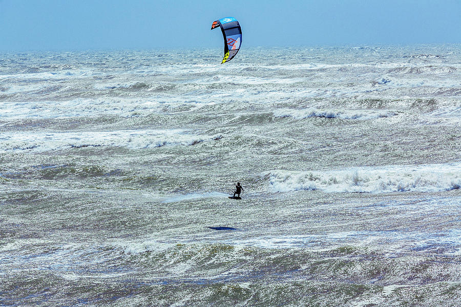 Image Digital Art - Kite Surfer by Alessandro Saffo