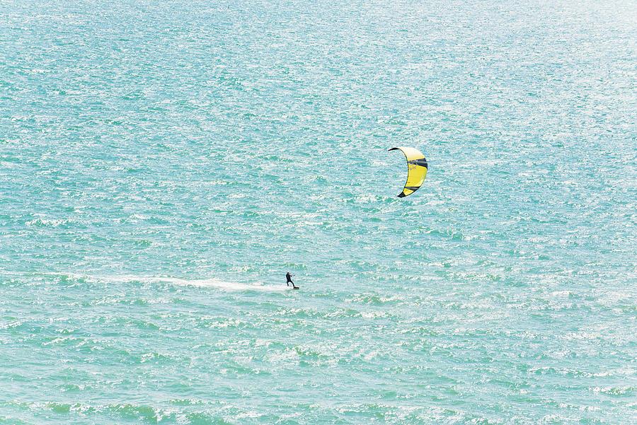 Image Digital Art - Kite Surfer by Andrew Lever