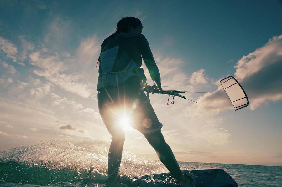Kitesurfing Photograph by Ben Welsh / Design Pics