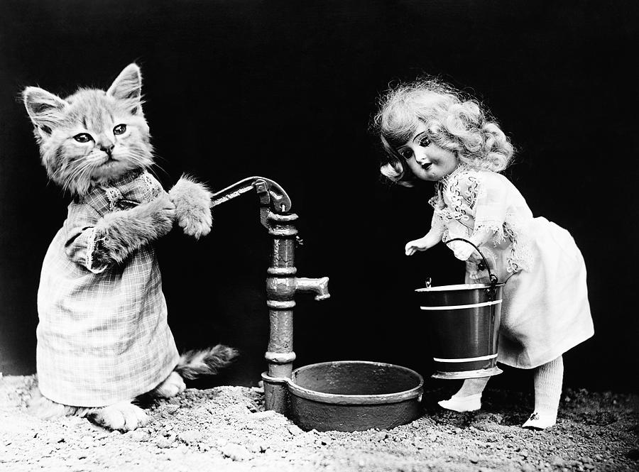 Kitty Pumping Water - Harry Whittier Frees by War Is Hell Store