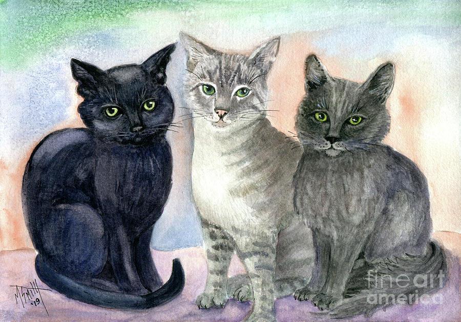 Kitty Trio by Marilyn Smith