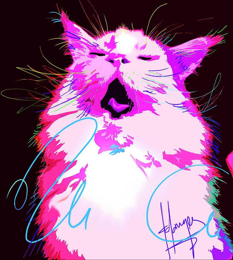 Kitty Yawn POP CAT by DC Langer