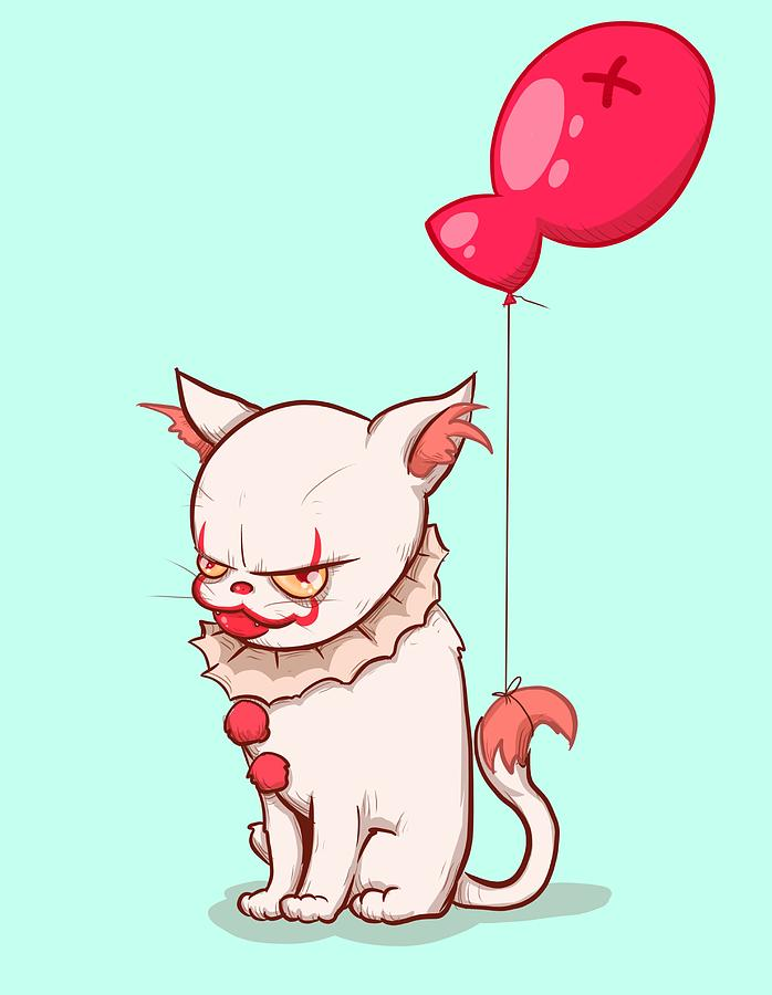 It Drawing - Kittywise by Ludwig Van Bacon