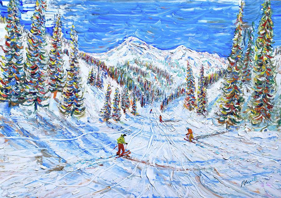 Kitzbuhel Ski Print by Pete Caswell