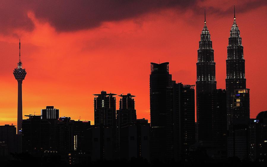 Kl Skyline At Dusk Photograph by Ahmad Junaidi Kuala Lumpur Malaysia