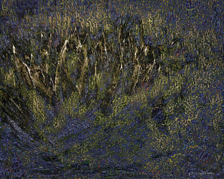 Klimt Abstract Golden Cactus by Sandra Nesbit