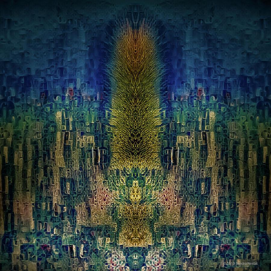 Klimt Blue Desertscape by Sandra Nesbit