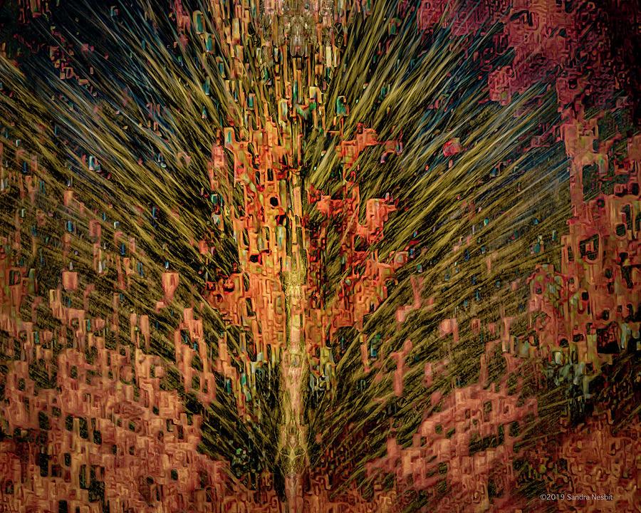 Klimt Cactus Adobe Merge by Sandra Nesbit