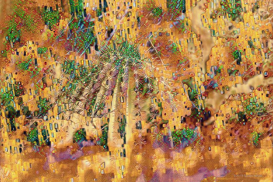 Klimt Gold in Desert by Sandra Nesbit