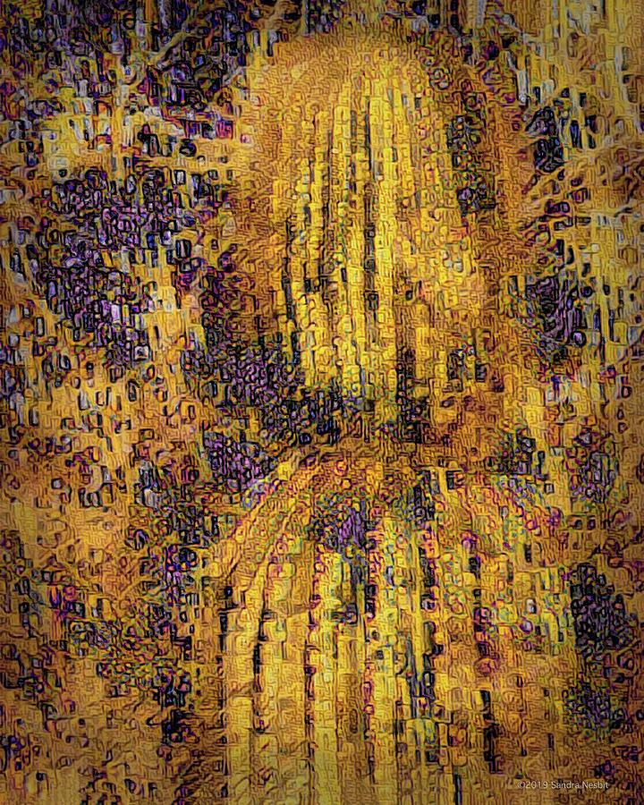 Klimt Golden Barrel Cactus by Sandra Nesbit