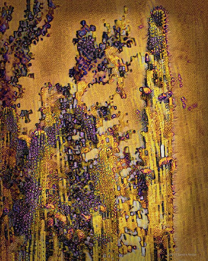Klimt Golden Purple Desert by Sandra Nesbit