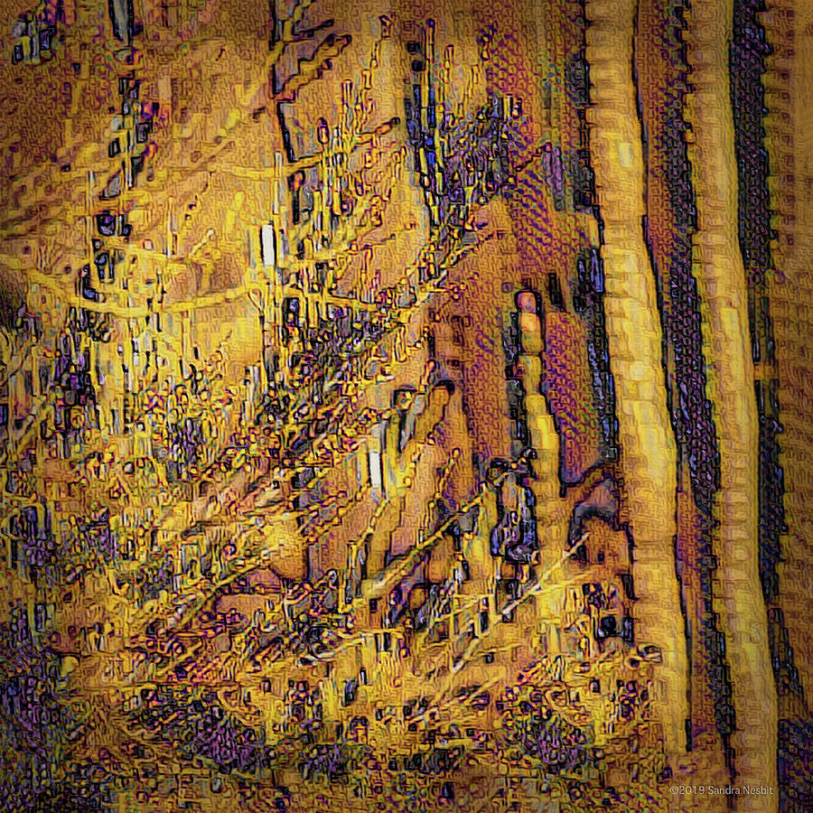 Klimt Golden Saguaro by Sandra Nesbit