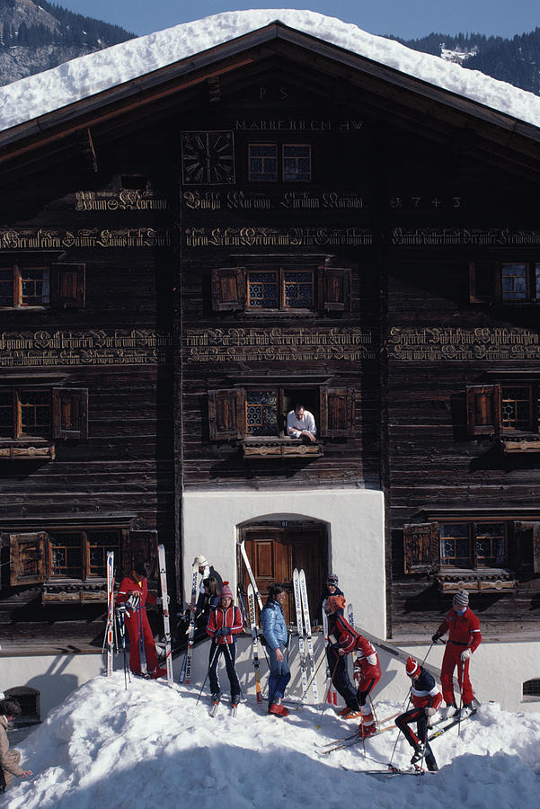 Klosters Florin House Photograph by Slim Aarons