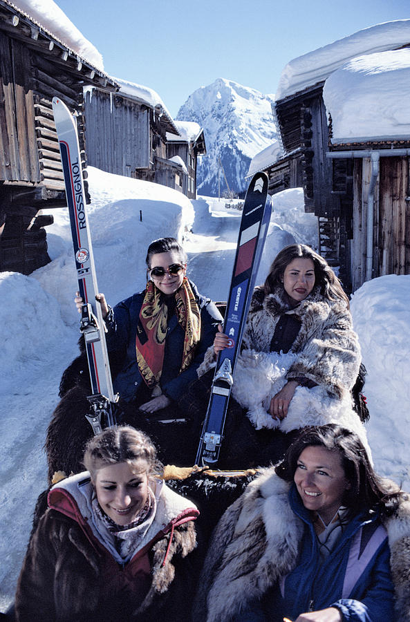 Klosters Skiing Photograph by Slim Aarons