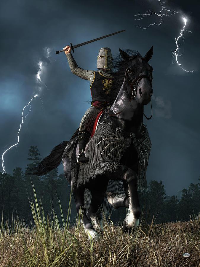 Knight Attack Digital Art