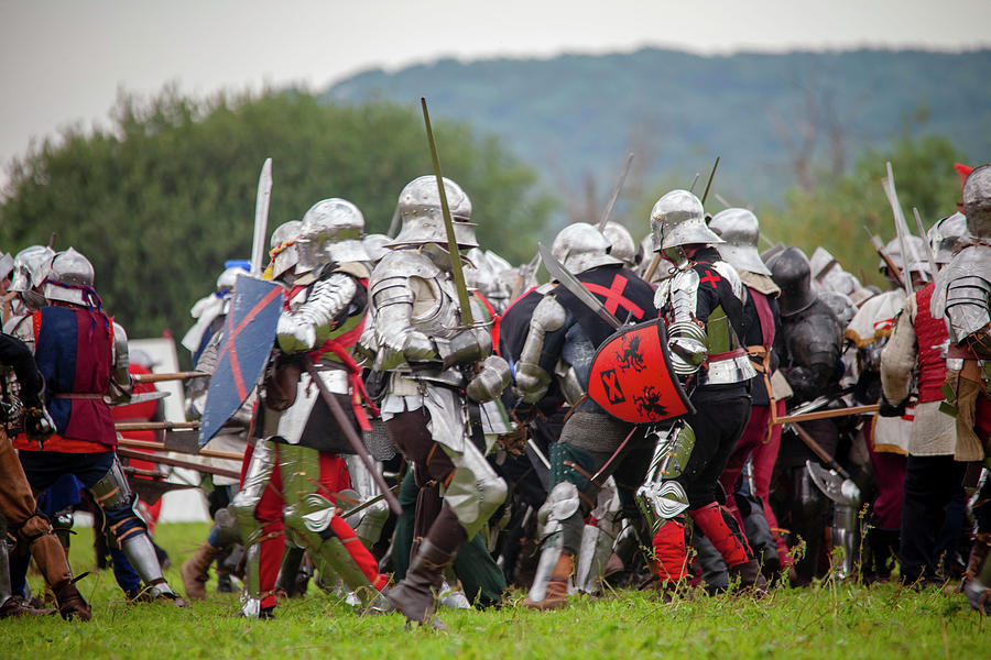 Knights in battle by Cheltenham Media