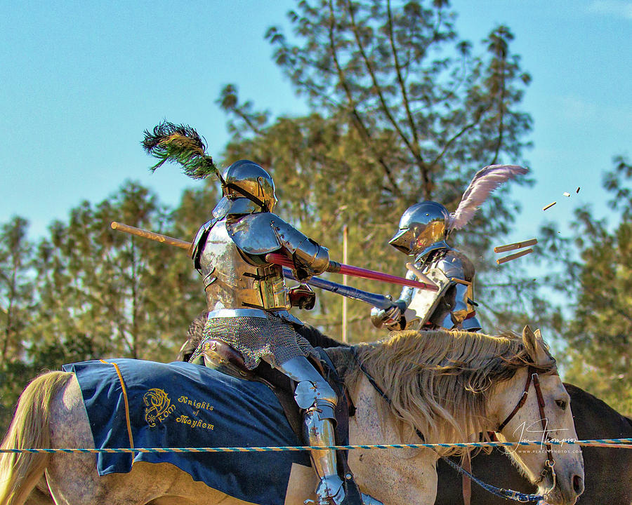 Equine Photograph - Knights Of Mayhem 03 by Jim Thompson