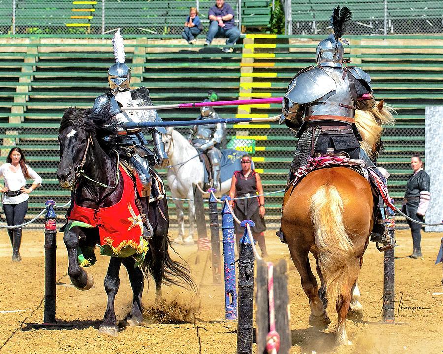 Equine Photograph - Knights Of Mayhem 08 by Jim Thompson