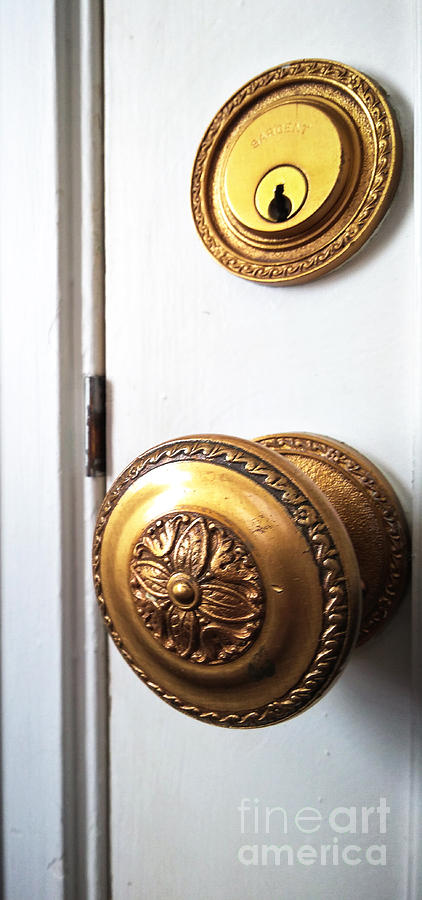 Door Knob Photograph - Knob And Lock by Robert Knight